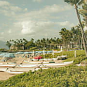 Wailea Beach Maui Hawaii Art Print by Sharon Mau