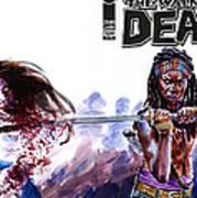 Walking Dead Michonne Art Print