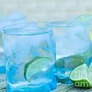 Water In Blue Art Print