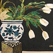 White Tulips Print by Lynda K Boardman