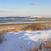 Winter At Popham Beach State Park Maine Art Print