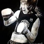Woman's Boxing Champion Filipino American Ana Julaton Art Print