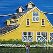 Yellow Barn Art Print by Anne Klar