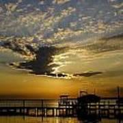 An Outer Banks Of North Carolina Sunset Art Print