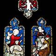 Religious Stained Glass Window Art Print