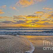 Ocean Beach Pier Sunset Art Print