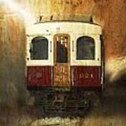 321 Antique Passenger Train Car Textured Art Print