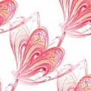 Seamless Background Fractal Art Print