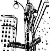 34th And Broadway Art Print