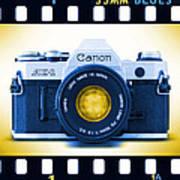 35mm Blues Canon Ae-1 Art Print