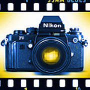 35mm Blues Nikon F-3hp Art Print