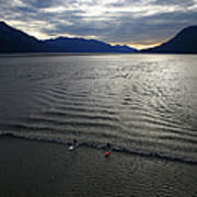 Feature - Bore Tide Surfing In Alaska Art Print