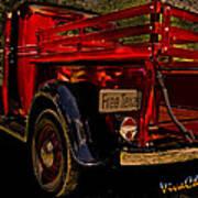 37 Ranch Truck Art Print