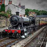3802 At Llangollen Station Art Print