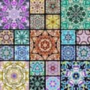 3d Cosmic Sample Grid Art Print