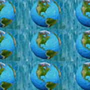 3d Render Of Planet Earth 1 Art Print