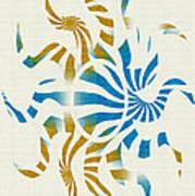 3d Spiral Art Art Print