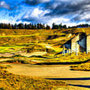 #18 At Chambers Bay Golf Course - Location Of The 2015 U.s. Open Tournament Art Print