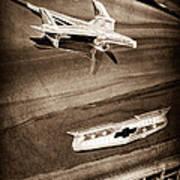 1955 Chevrolet Belair Hood Ornament Art Print
