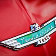 1956 Ford Thunderbird Emblem Art Print