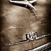 1956 Mercury Monterey Hood Ornament - Emblem Art Print
