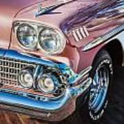 1958 Chevrolet Bel Air Impala Painted  Art Print