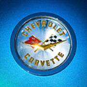 1958 Chevrolet Corvette Emblem Art Print