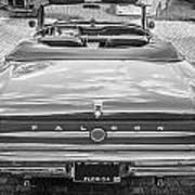 1963 Ford Falcon Sprint Convertible Bw  Art Print