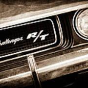 1970 Dodge Challenger Rt Convertible Grille Emblem Art Print