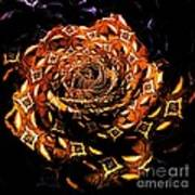 4 4 Echo Rose Art Print