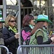 A View Of Some People Enjoying The 2009 New York St. Patrick Day Art Print