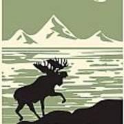 Alaska Denali National Park Poster Art Print
