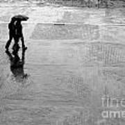 Alone In The Rain Art Print