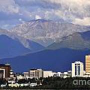 Anchorage Skyline Art Print