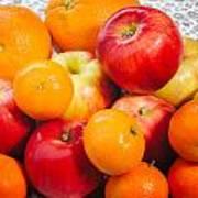 Apple Tangerine And Oranges Art Print