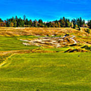 #4 At Chambers Bay Golf Course - Location Of The 2015 U.s. Open Championship Art Print by David Patterson