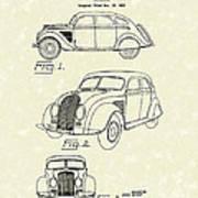 Automobile 1935 Patent Art Art Print