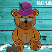 Baby Bear Collection Art Print