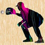 Baseball Catcher Art Print