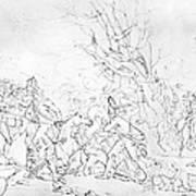 Battle Of Princeton, 1777 Art Print