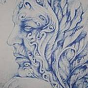Blue Art Print by Moshfegh Rakhsha