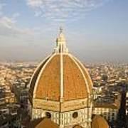 Brunelleschi's Dome At The Basilica Di Santa Maria Del Fiore Art Print