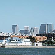 Buildings At The Waterfront, San Art Print