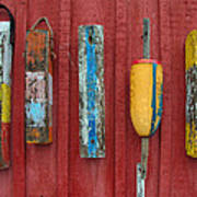 Buoys At Rockport Motif Number One Lobster Shack Maritime Art Print