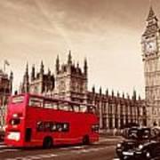 Bus In London Art Print
