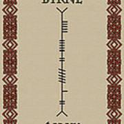 Byrne Written In Ogham Art Print