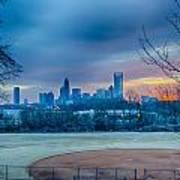 Charlotte The Queen City Skyline At Sunrise Art Print