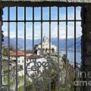 Church Madonna Del Sasso Art Print