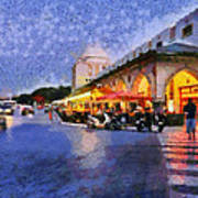 City Of Rhodes During Dusk Time Art Print by George Atsametakis