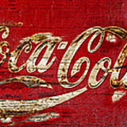 Coca Cola Sign Cracked Paint Art Print